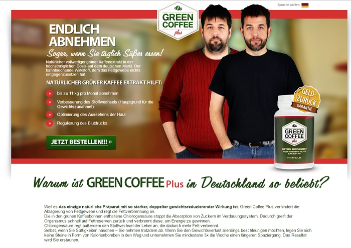 green coffee plus homepage