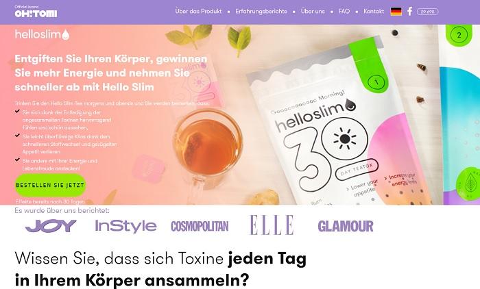 hello slim homepage