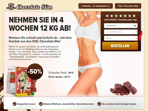 chocolate slim homepage