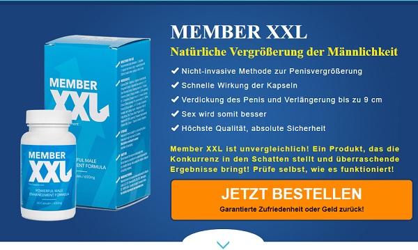 So sieht die Homepage von Member XXL aus.