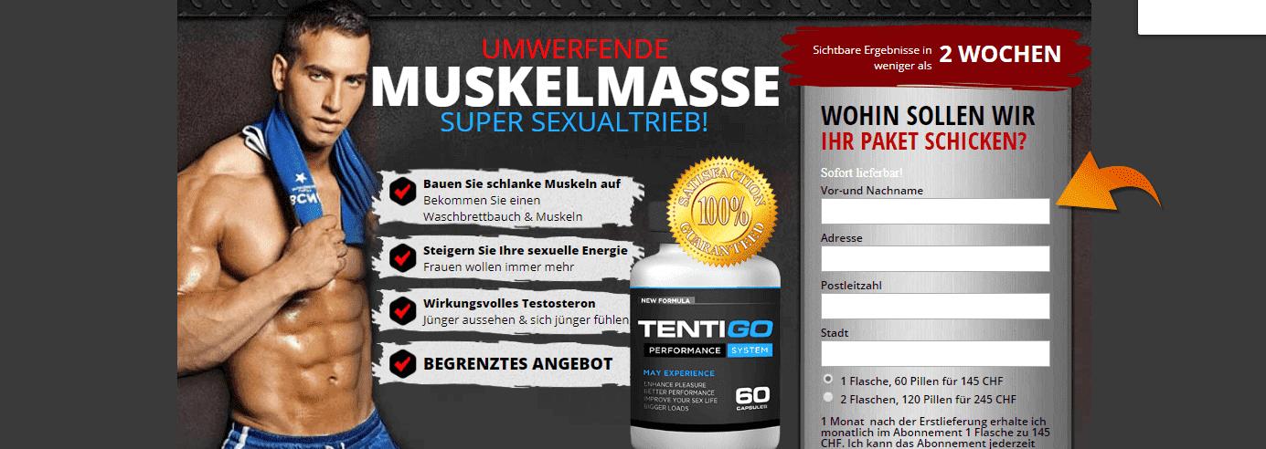 Webseite von Tentigo